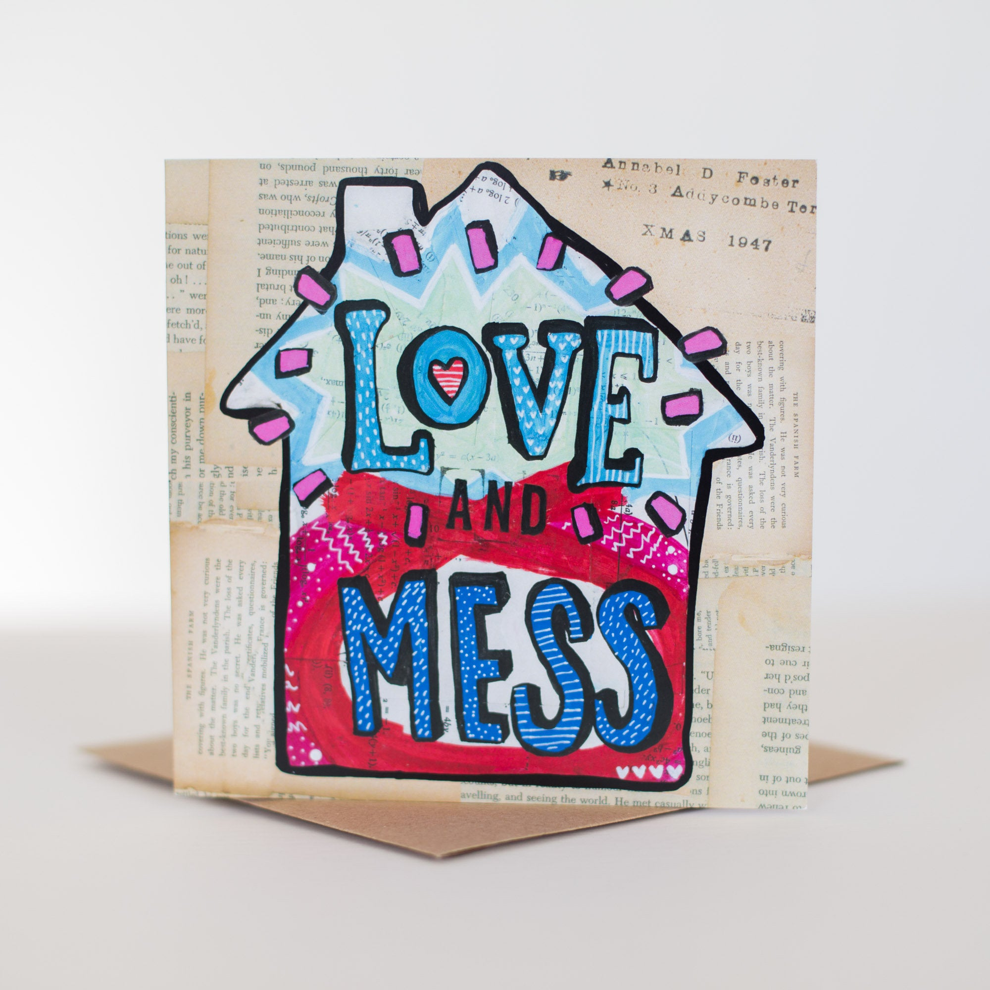 'Love & Mess' Greetings Card