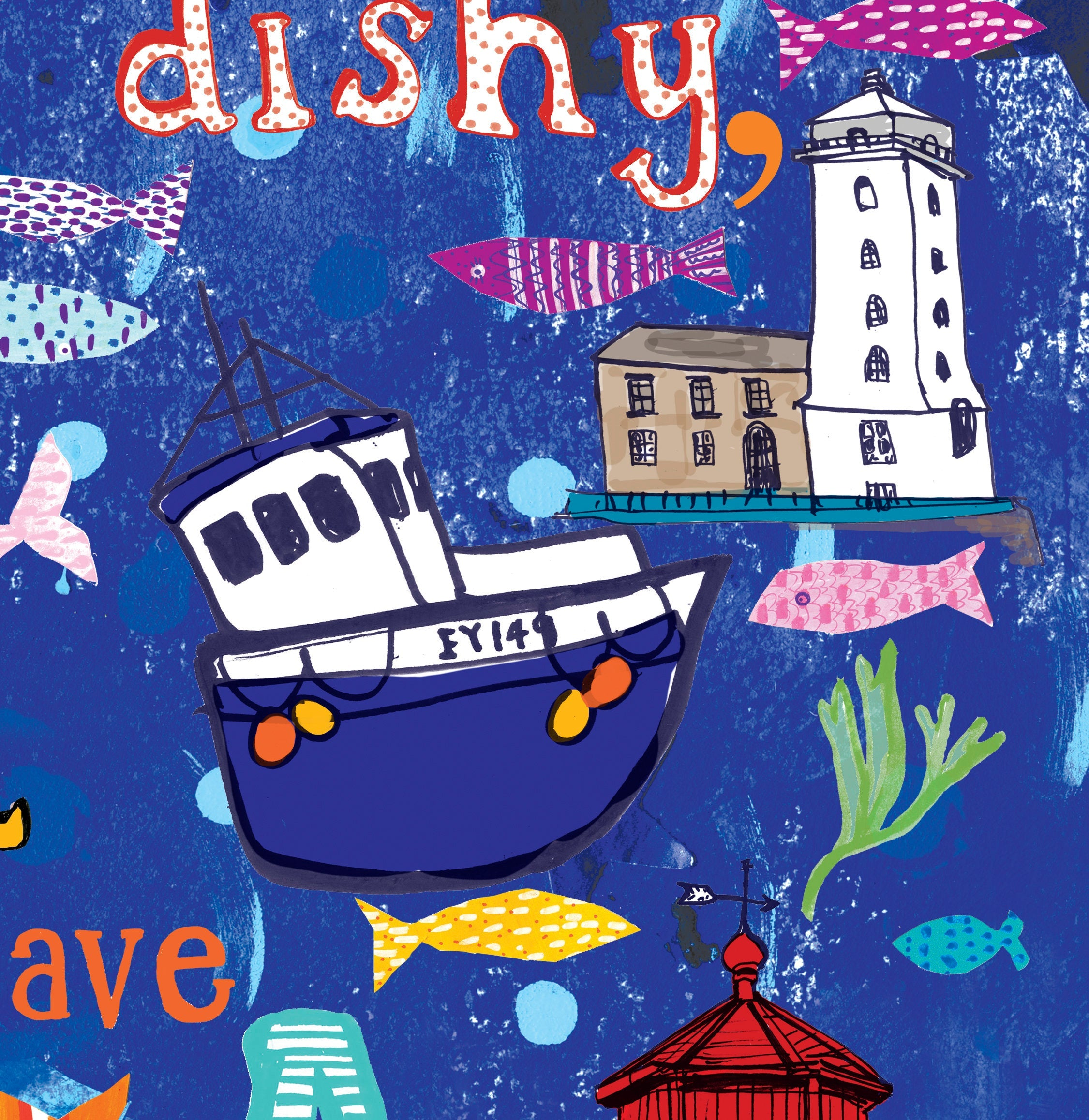 'Fishy on a Dishy' Print Poster