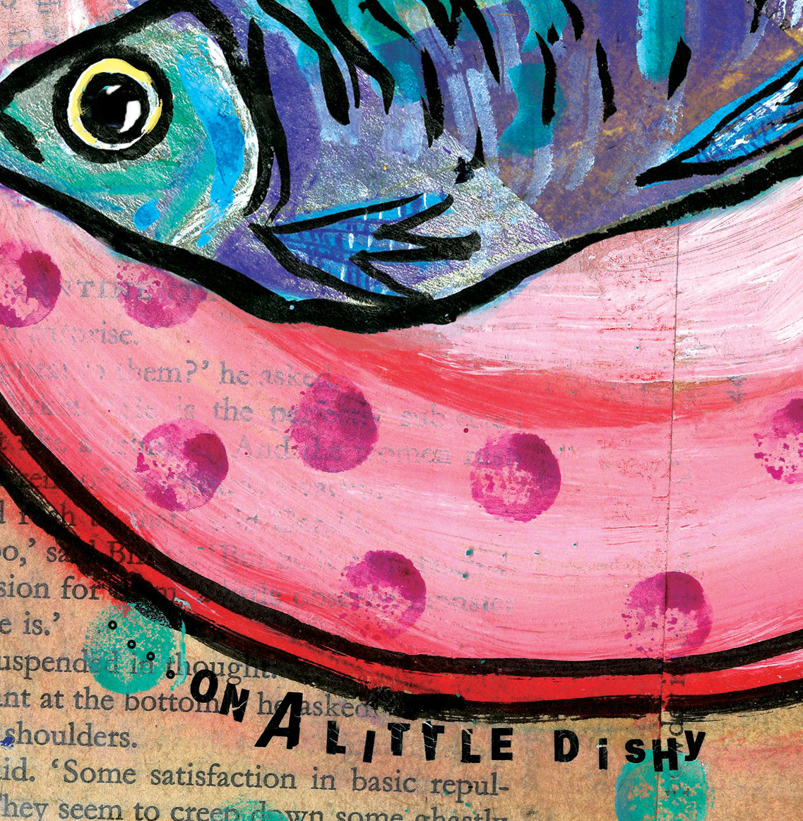 'On a little Dishy' Greetings Card