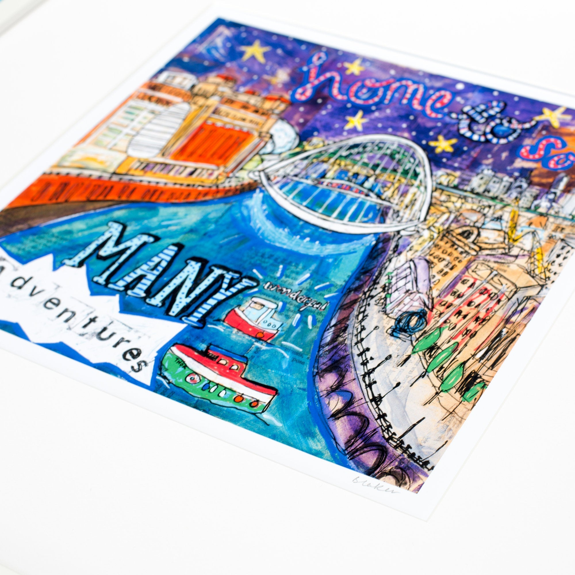 'Toon' Print (Small) Newcastle Quayside