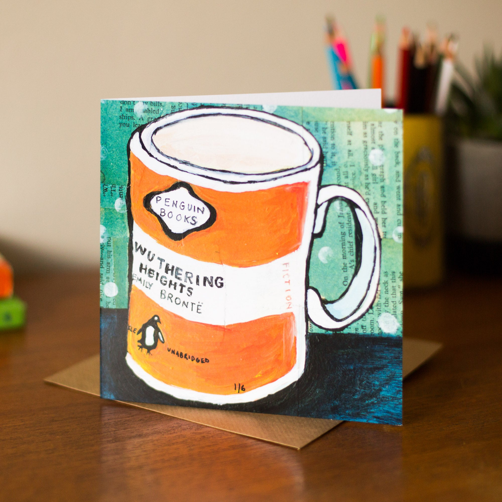 Wuthering Heights Penguin Mug Greetings Card