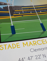 Clermont poster rugby affiche déco chistera