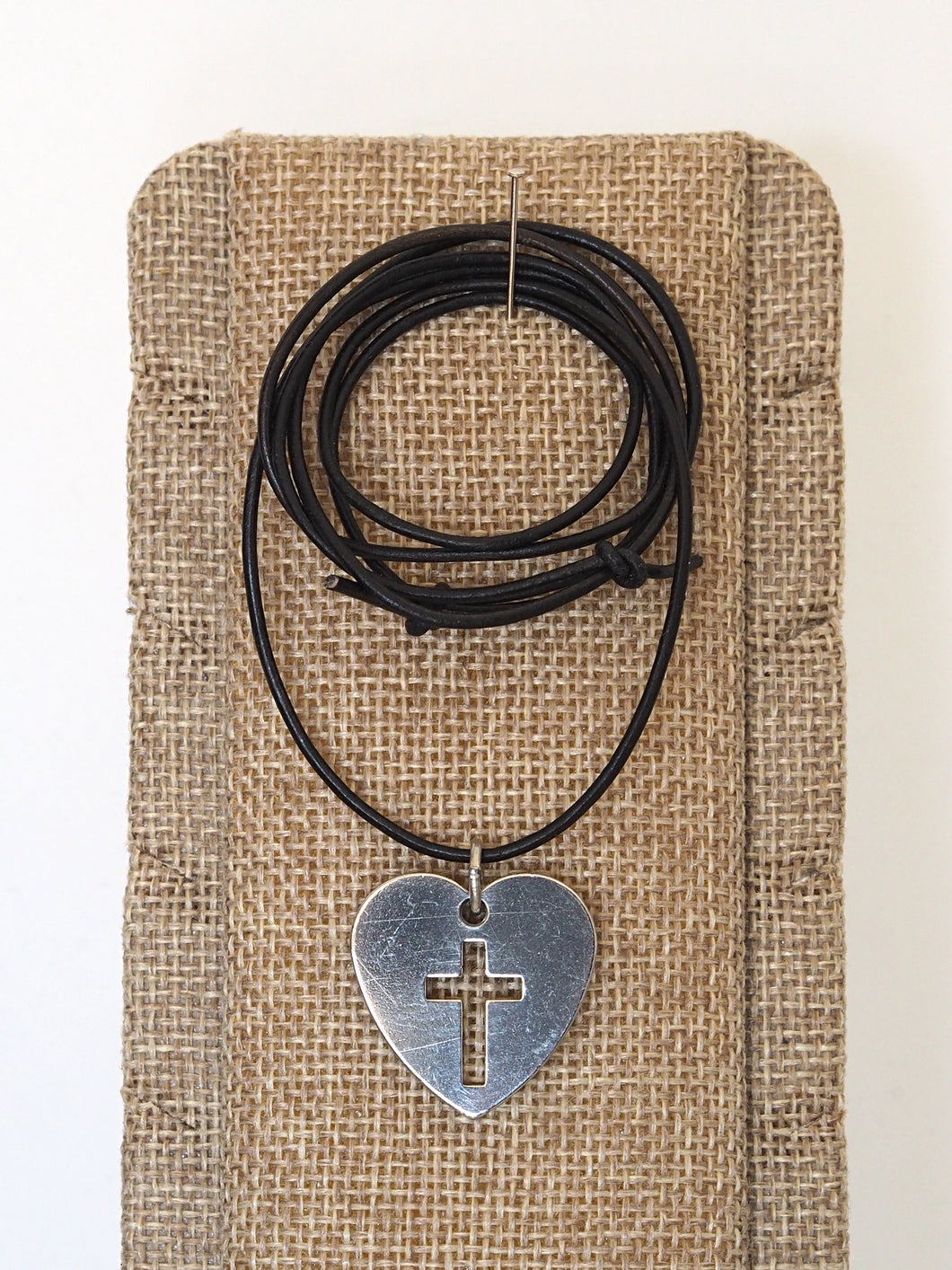 Stainless Cross Heart Necklace
