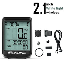 Load image into Gallery viewer, Cyclowiz 2.8 inch Bicycle Computer Wireless Bike Computer Light Headlight Set Rainproof Speedometer Odometer Cycling Stopwatch