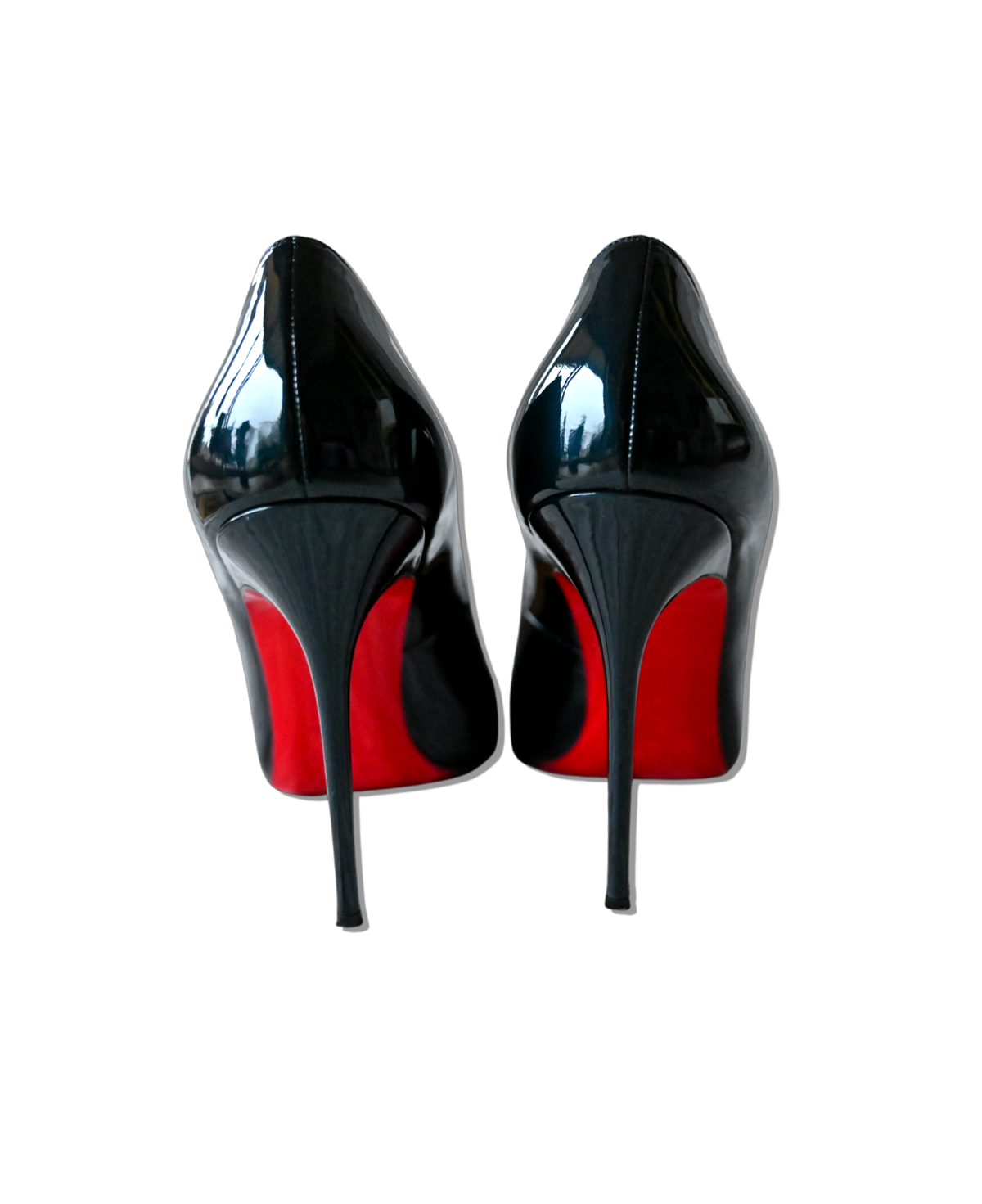 "Louboutin ""Decollete 100 Metal Patent"""