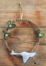 Load image into Gallery viewer, Goose and Mistletoe Wreath