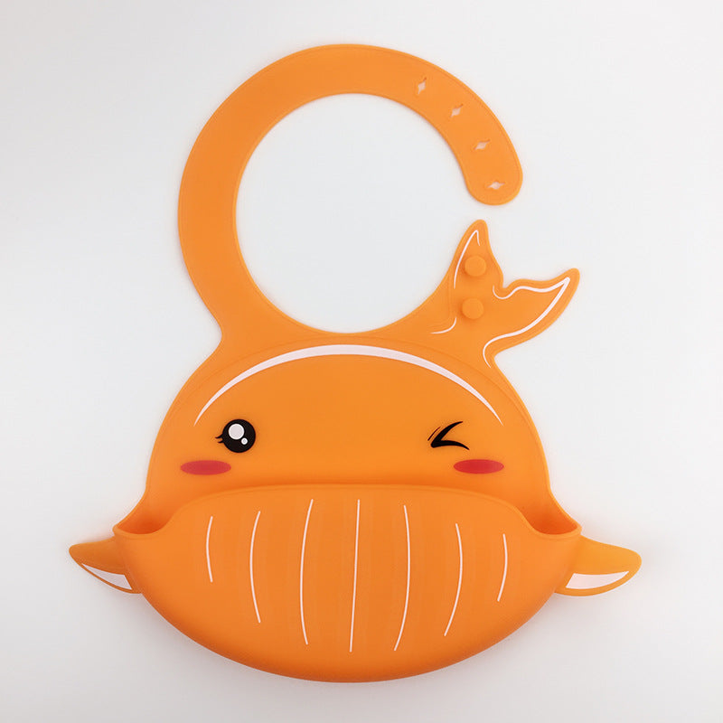 Babyified Food Crumb Catcher Silicone Animal Bib