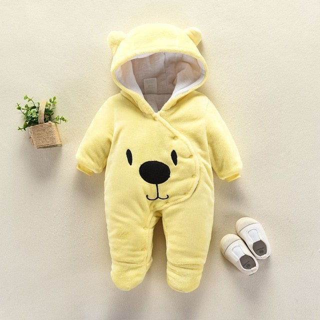 Babyified Teddy Warm Babysuit