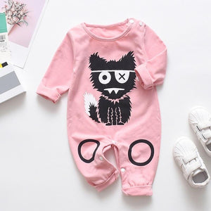 Babyified Cute Cat Cartoon Sleep Suit Babyified Apparels eprolo Pink 3-6 Months