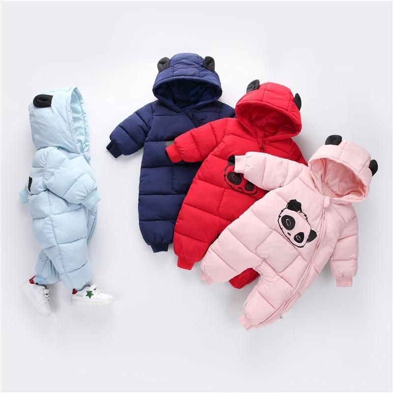 Babyified Newborn Winter Hooded Panda Romper eprolo
