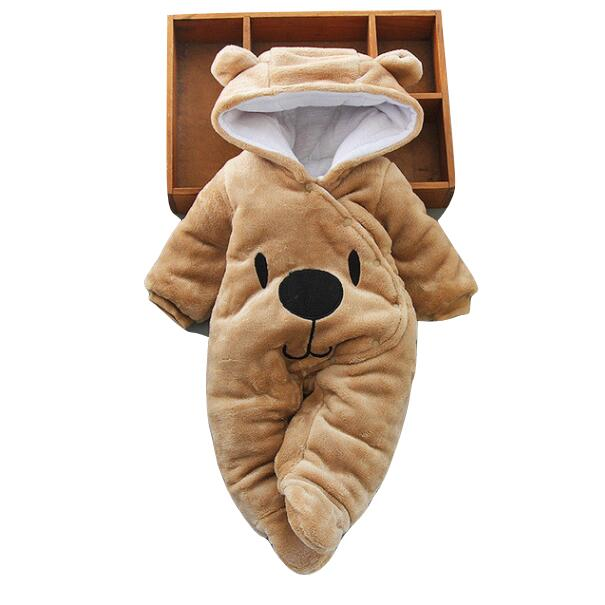 Babyified Teddy Warm Babysuit Babyified Apparels eprolo Brown 3-6 Months