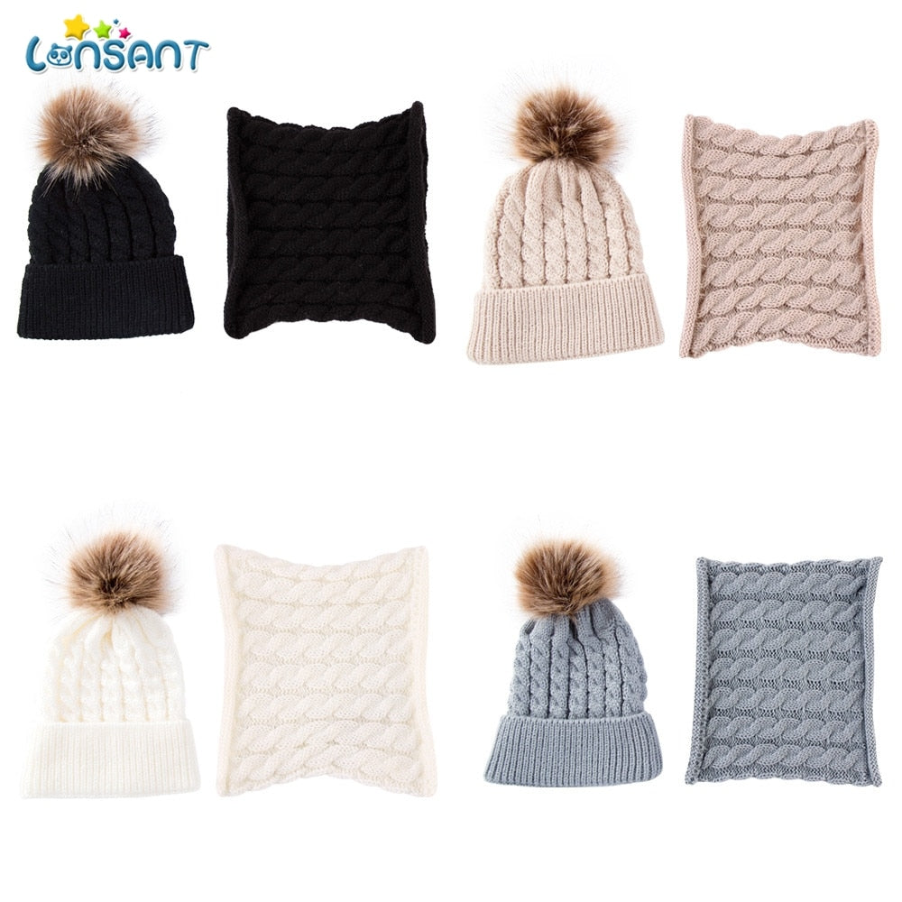 Babyified Knitted Wool Beanie + Scarf