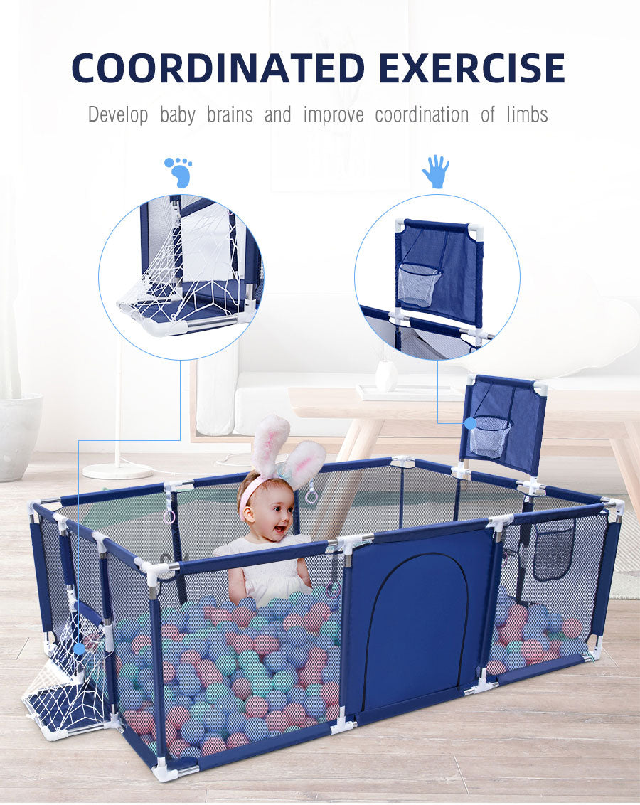 Babyified Foldable Playpen With Safety Barrier
