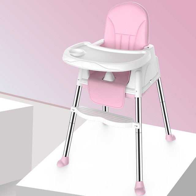 Multifunctional Adjustable Baby Kids Safety Dining High Chair Booster with Seat Wheels Warm Cushion New High Quality