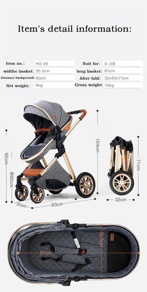 Fast Shipping Free Shipping Baby Stroller High Landscape Carriage 2020 New Pram 2 in 1