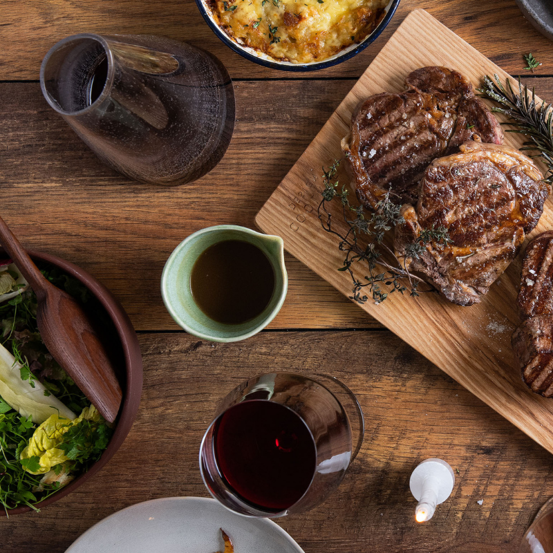 Ribeye Steak & Wine Box for 2 or More