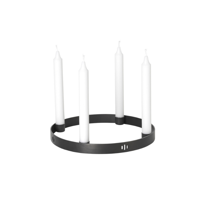 Candle Holder in Black Brass