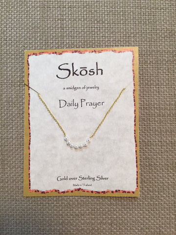 Skosh Daily Prayer Necklace gold