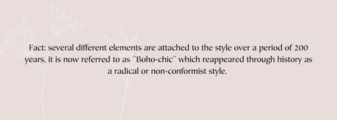 Fact About Bohemian Style On Pink Background
