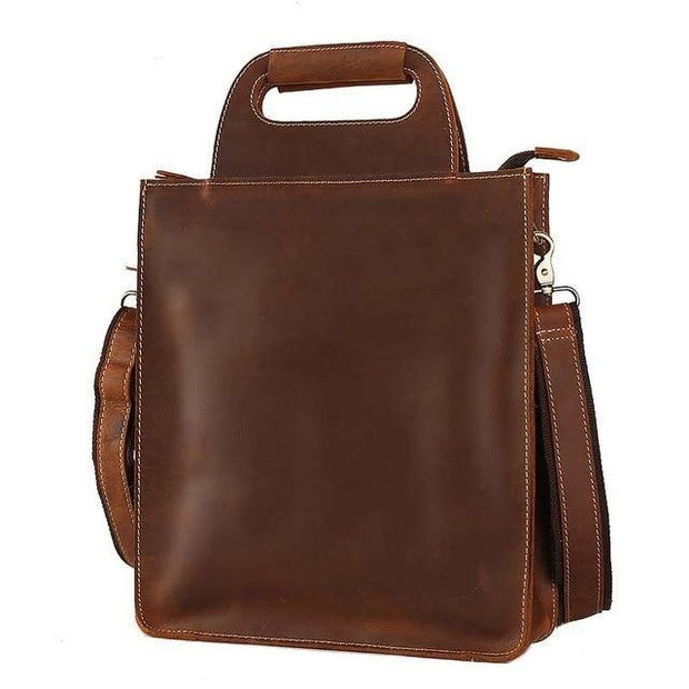 ADRON Genuine Leather Briefcase Bag - brown