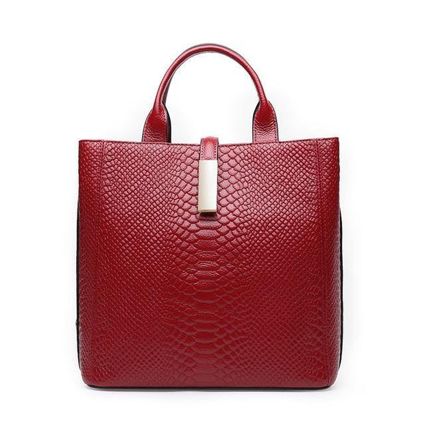 ASIRA Genuine Leather Red Handbag