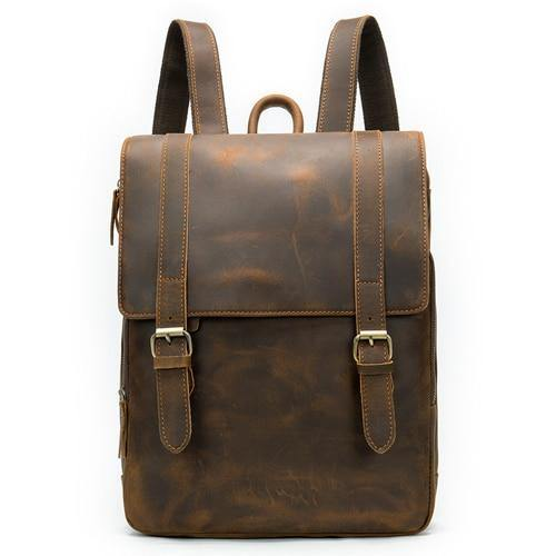 AYDON Vintage Genuine Leather Backpack