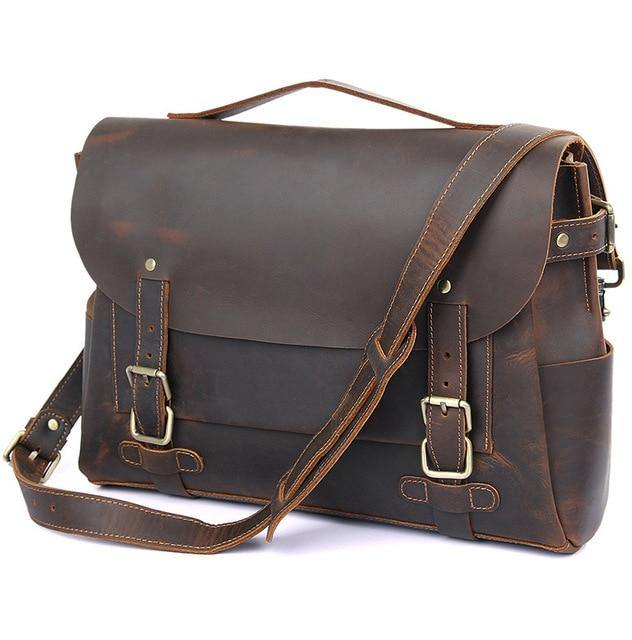BALISH Genuine Leather Briefcase