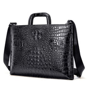 BANSTO Black Genuine Leather Shoulder Bag