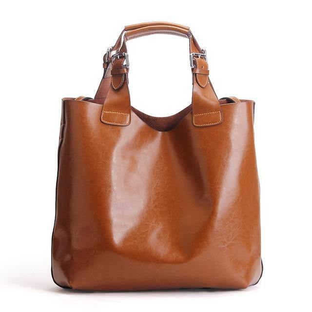 BODIA Genuine Leather Tote Handbag