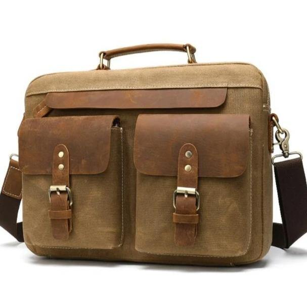 BRADMOR Genuine Leather Briefcase