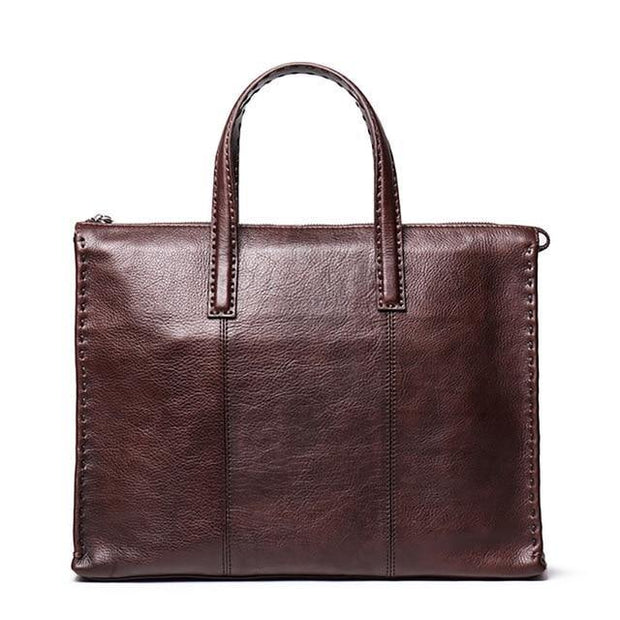 CADEL Genuine Leather Briefcase Bag - coffee