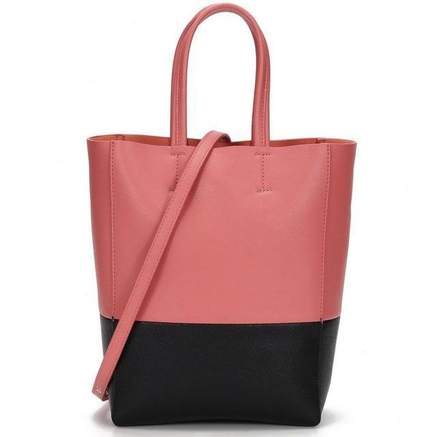 CAJA Genuine Leather Crossbody Tote - pink