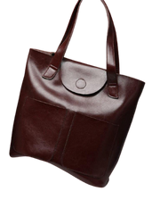 CARITA Large Genuine Leather Handbag
