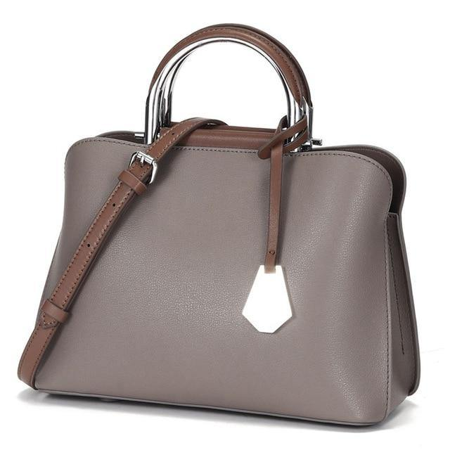 CHELLA Genuine Leather Tote Handbag