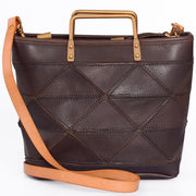 CYNDRA-Genuine-Leather-Handbag-Brown