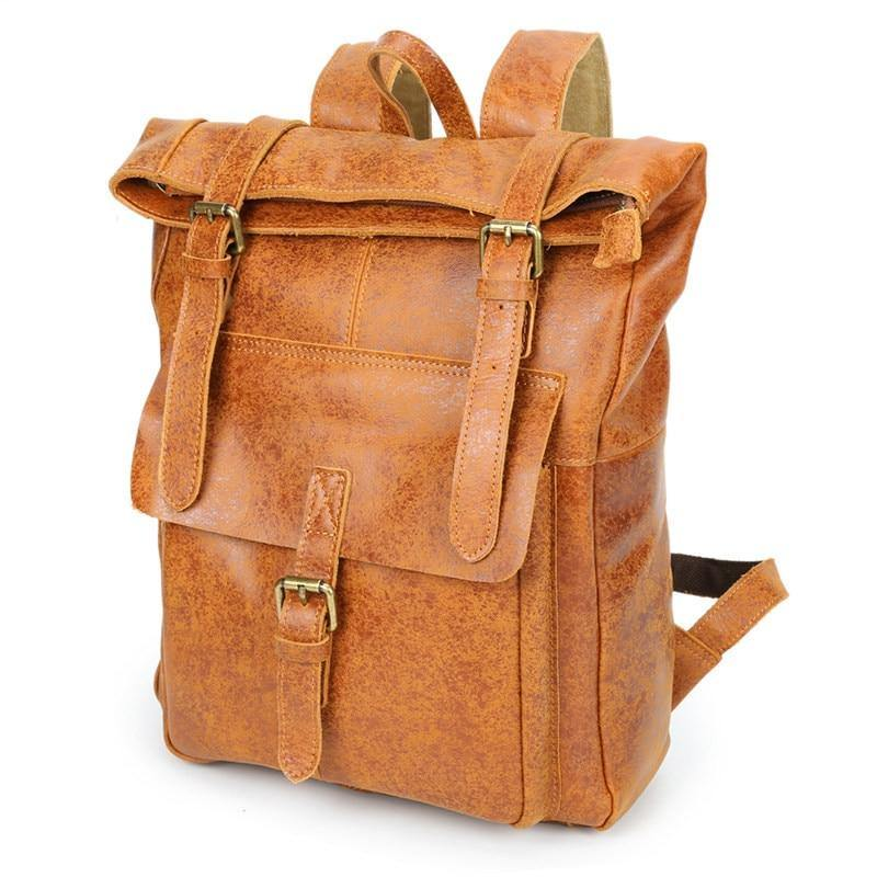 DEZIAN Genuine Leather Backpack - brown