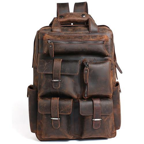 DOCLYA Genuine Leather Backpack