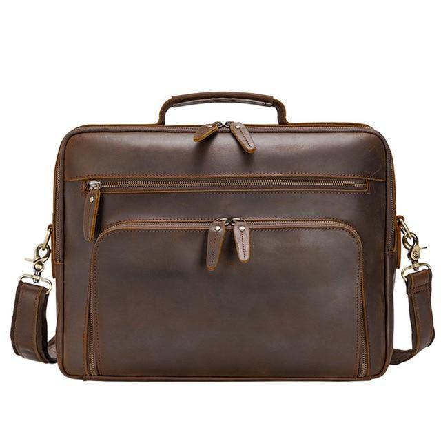DRANS Genuine Leather Briefcase
