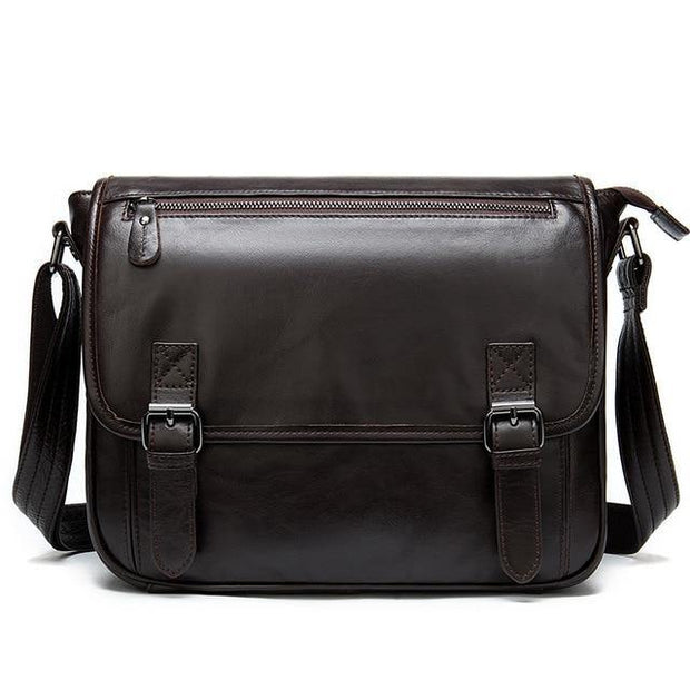 ECIEN Genuine Leather Messenger Shoulder Bag