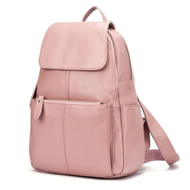 EREA-Genuine-Leather-Backpack-Pink