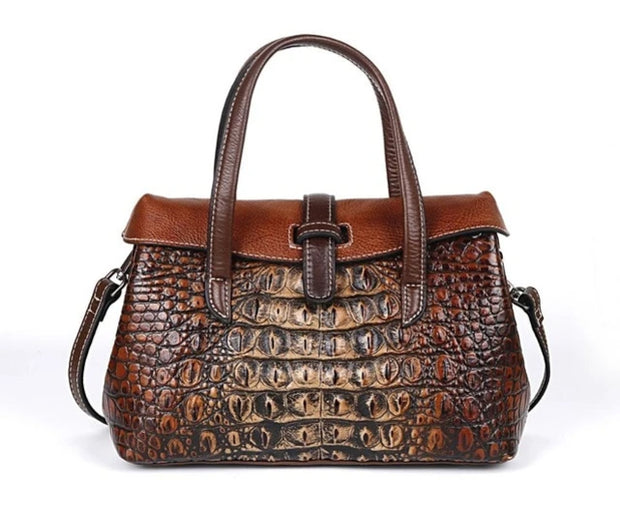 GIVEA Genuine Leather Crocodile Handbag