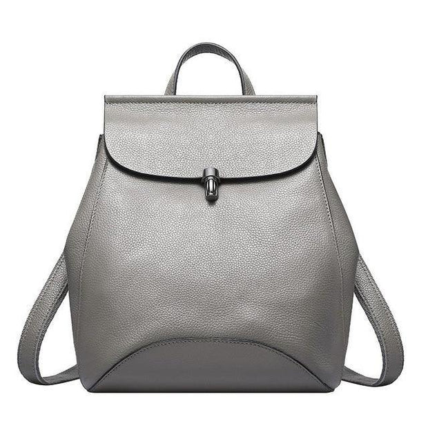 GUIERA Genuine Leather Backpack - gray