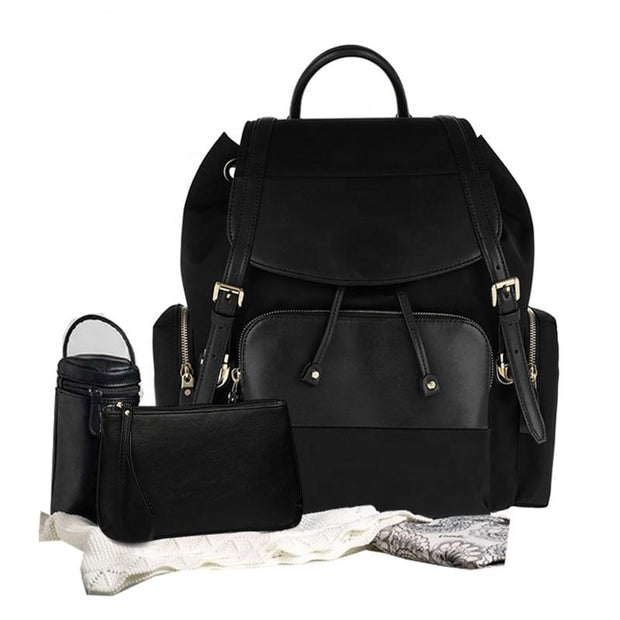 Genuine Leather Diaper Bag Backpack JUJA