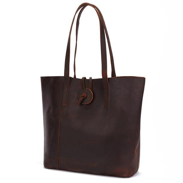LAPCA Genuine leather Tote Handbag - brown