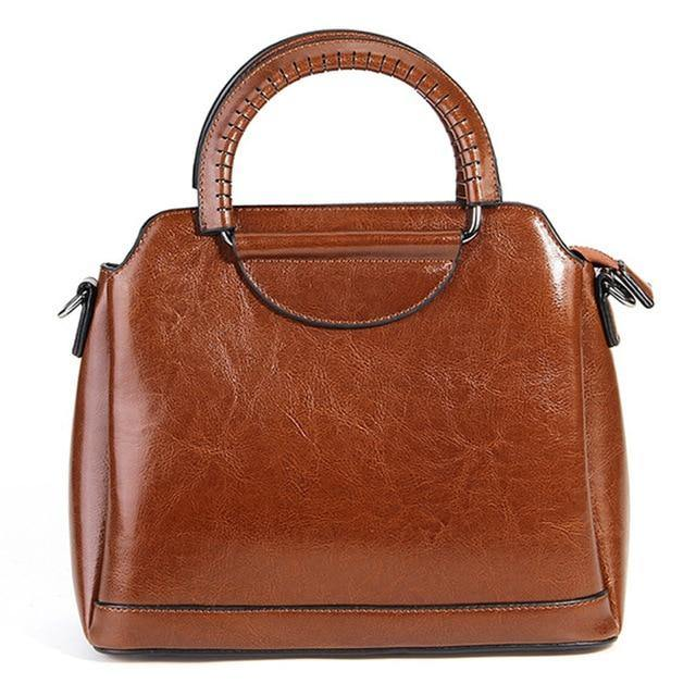 LIEFA Genuine Leather Tote Handbag