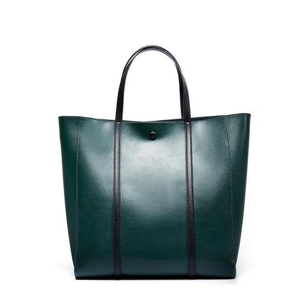 LUBUA Genuine Leather Tote Bag