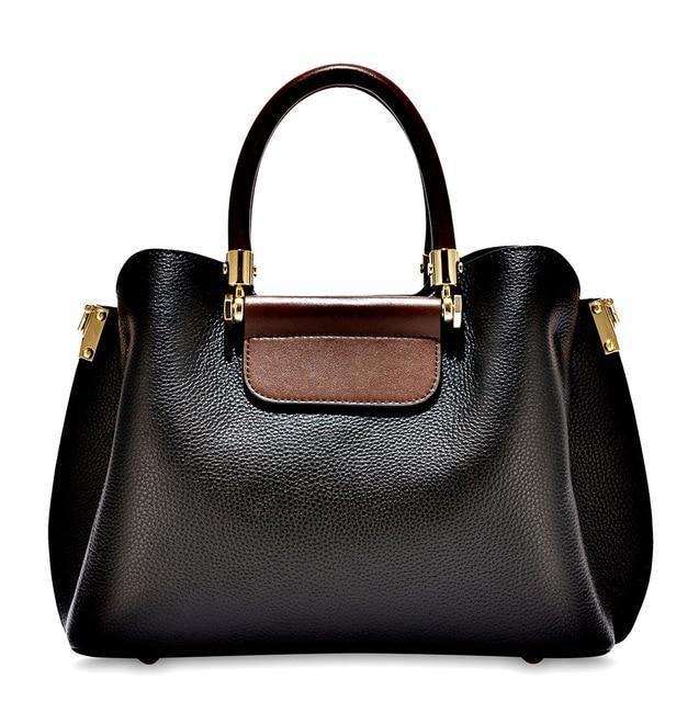 LUSSA Genuine Leather Handbag