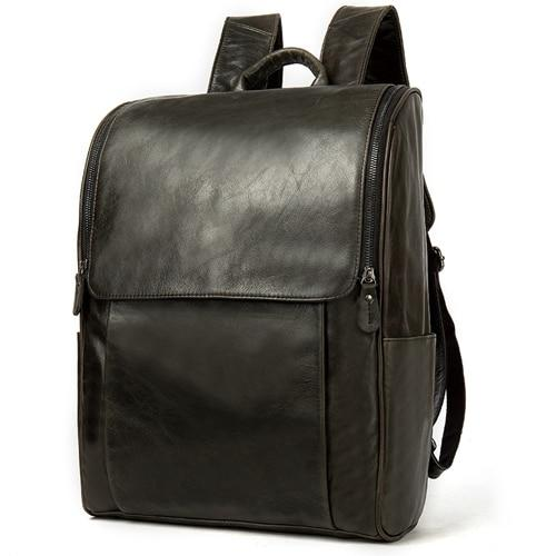 NIVEN Genuine Leather Laptop Backpack  - Coffee