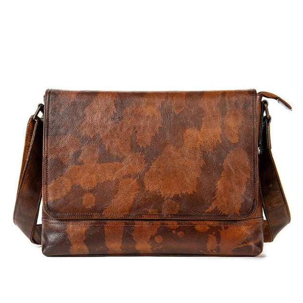 REX Vintage Genuine Leather Shoulder Bag