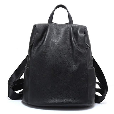RINIA Genuine Leather Anti Theft Backpack